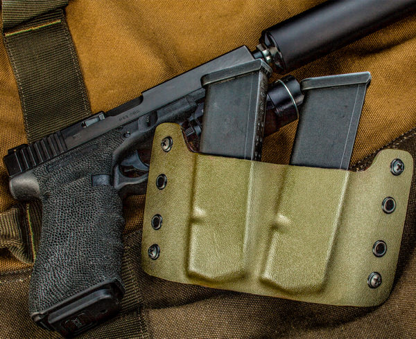 Kydex Double Magazine Holder OD Green Glock mags