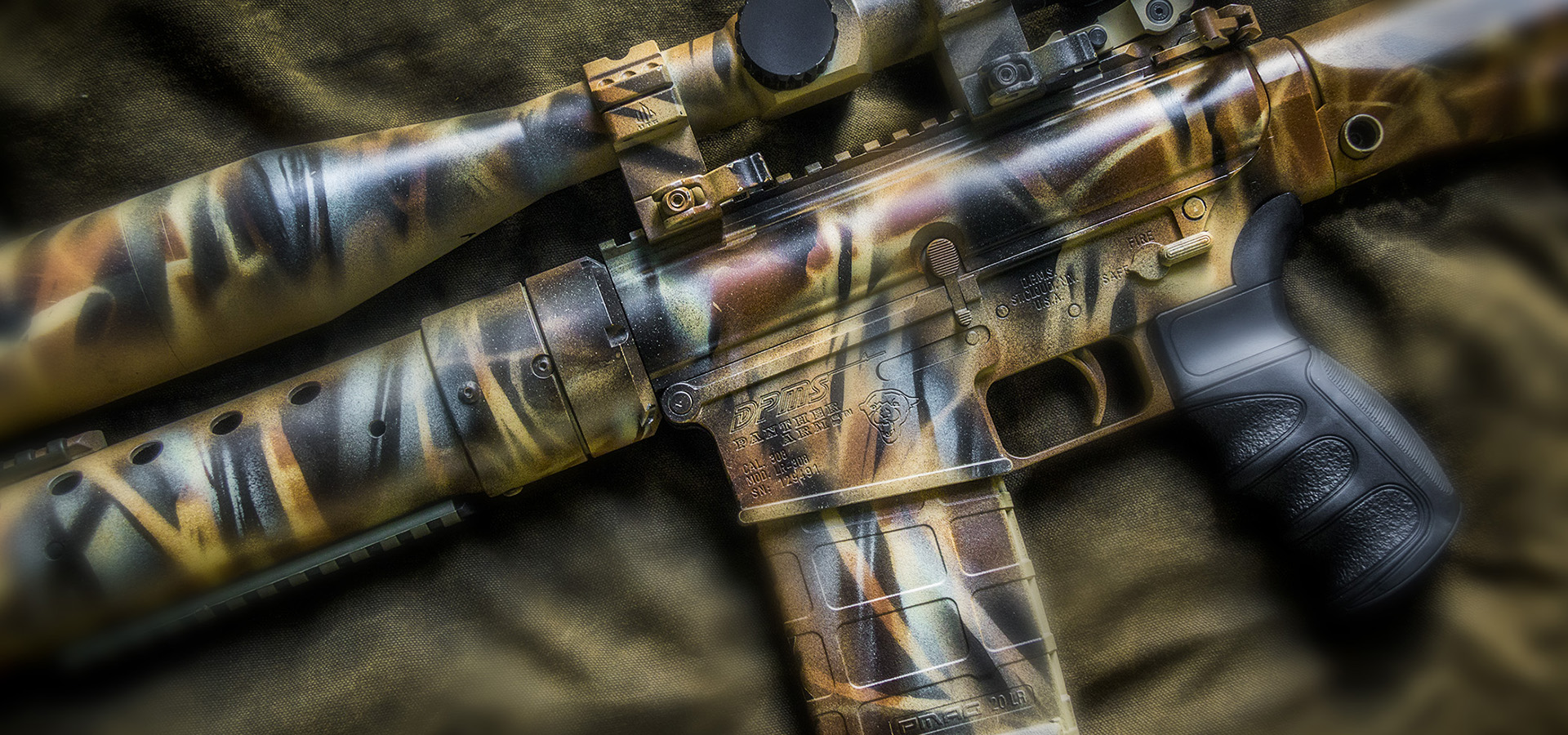 AR-10-308 Custom Finish in Four Colors of Duracoat