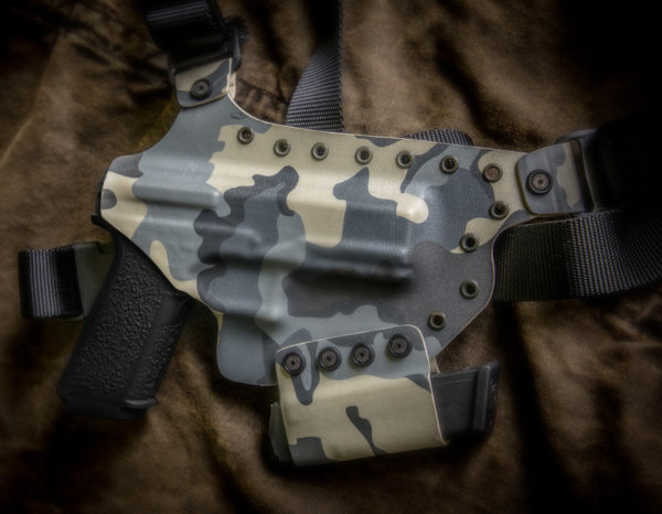 Kydex Chest Holster KUIU P80 9MM Polymer 80 with Spare Mag