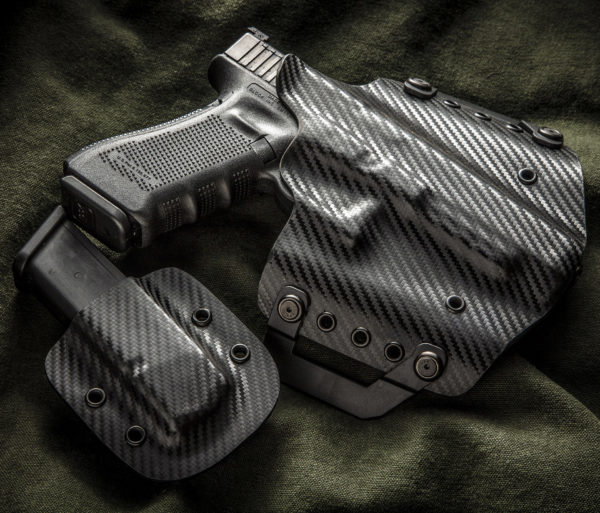 Kydex outside waist band OWB Glock 34 Black Carbon Fiber