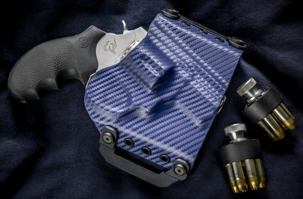 Kydex outside waist band OWB Taurus 856 Blue Carbon Fiber