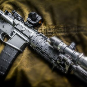 AR Pistol 300 blackout in Duracoat Tungsten
