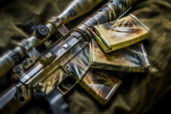 AR308 In Four Color Duracoat Camo