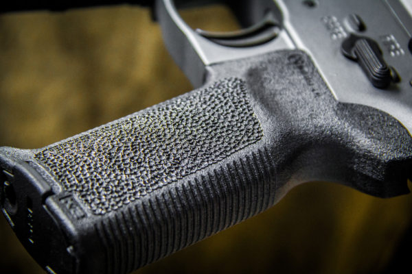 AR Pistol 300 blackout in Duracoat Tungsten with Stippling
