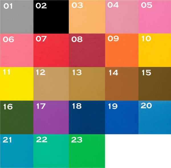 EVA Pocket Purse Pistol Sleeve Foam Color Chart